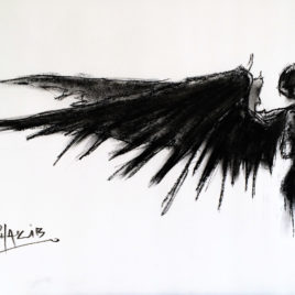 Angel. Study 1. Charcoal Drawing