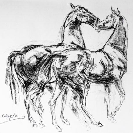 the-kiss-charcoal-drawing-chakib-benkara-2016